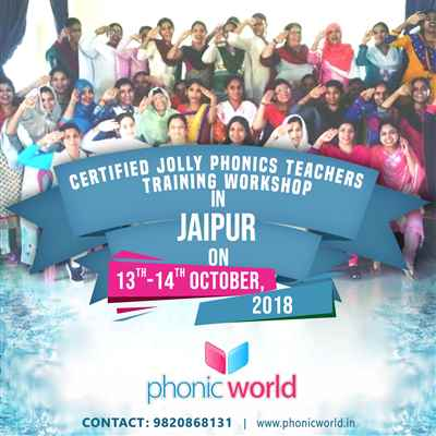 Upcoming Jolly Phonics Workshop On 13th and 14th October