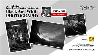 An Exclusive Seminar on Black & White Photography