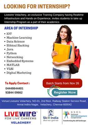 Internships On Livewire Velachery