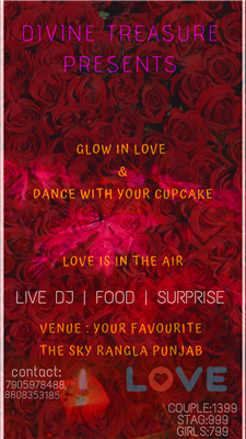 Glow in Love Dance with your cupcake