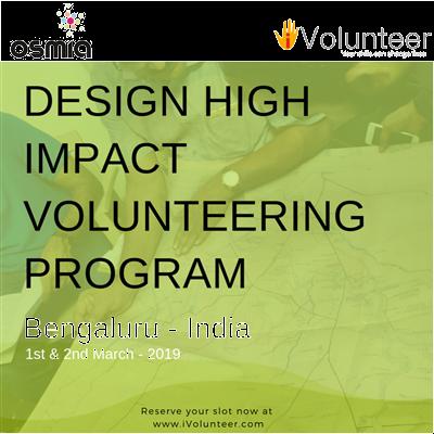 A design workshop for High Impact Corporate Volunteering Program
