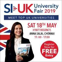 Top UK Universities in Chennai on Saturday, 18 May 2019