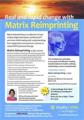 Matrix Reimprirnting Practitioner Training Mumbai for Real and Rapid Breakthrough