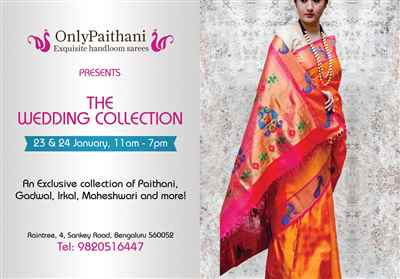 OnlyPaithani Saree Festival Bangalore On 23 24 Jan 2019