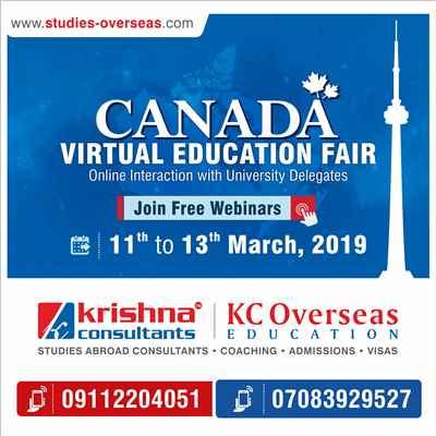 Attend Canada Virtual Education Fair Webinar 11th to 13th March 2019