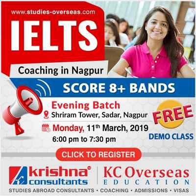 New IELTS Coaching Batch 11th March 2018 at KC Sadar Nagpur