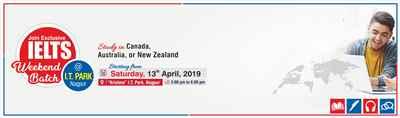 New IELTS Batch at Krishna Consultants Nagpur Saturday 13th April 2019