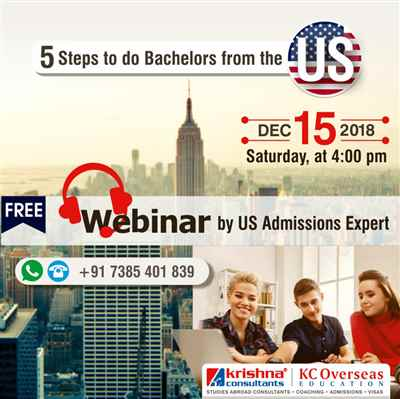 Study USA Webinar 5 Steps to do Bachelors from USA