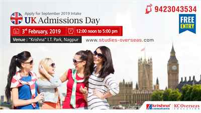 UK Admissions Day at Krishna Consultants Nagpur 3rd February 2019