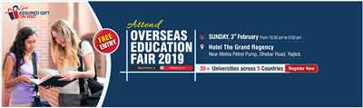 Overseas Education Fair in Rajkot 3rd Feb 19