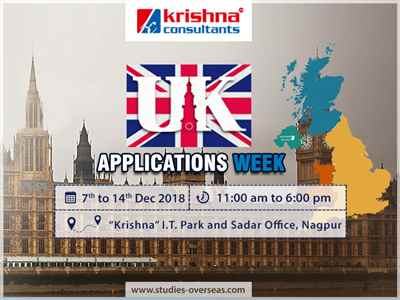 UK Applications Week at Krishna Consultants Nagpur 7th to 14th Dec 18