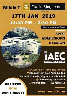 Spot Assessment Session of Curtin University Singapore IAEC Education Ahmedabad