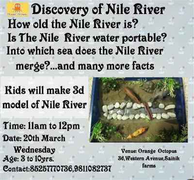 Discovery of Nile River Worskshop at Orange Octopus