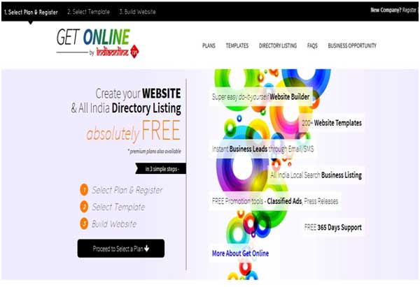 Getonline Website by India Online