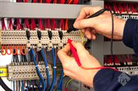 Industrial Electrical Contractor At Work
