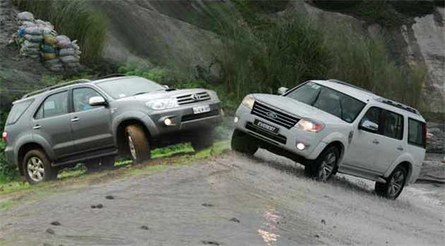 Compare Toyota Fortuner Vs Ford Endeavour