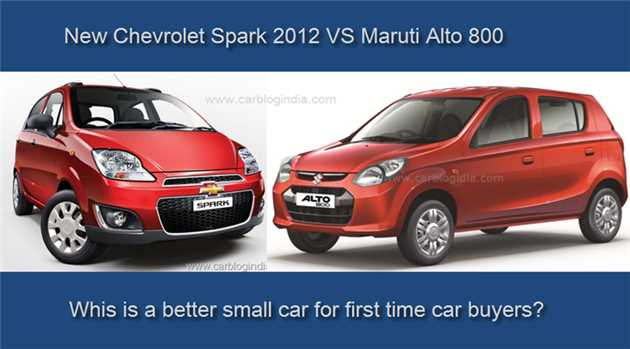 Chevrolet Spark Vs. Maruti Alto 800: Comparison
