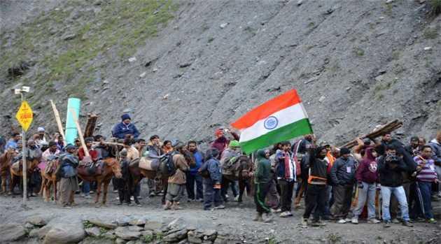 Batch of 377 Pilgrims Left Jammu for Amarnath