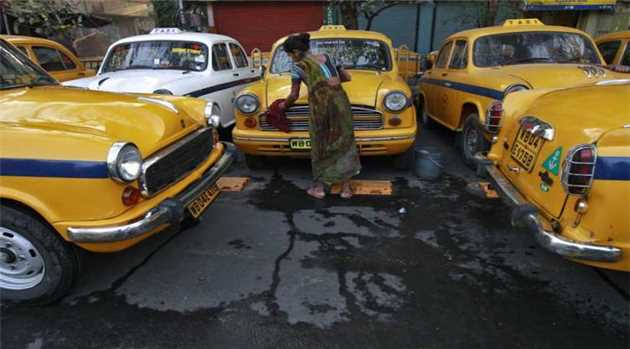 Kolkata Cabbie 'Greens' Rides With Grass, Plants