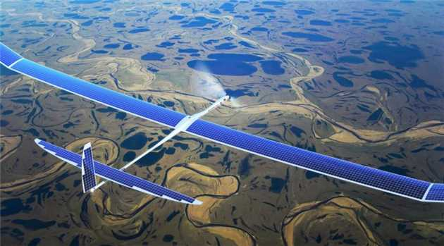 Facebook's Solar Powered Drone to Beam Internet From the Sky