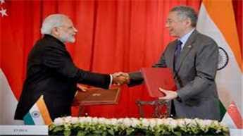 India, Singapore ink strategic partnership, 9 deals as Modi concludes visit