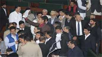 Congress members walk out of J&K assembly over law and order