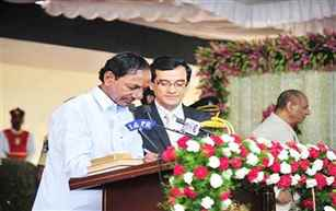 K Chandrasekhar Rao takes oath as the Chief Minister of Telangana