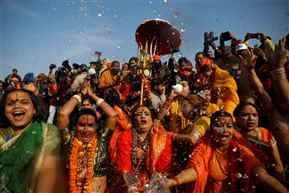 Lakhs of people take holy dip on final Shahi Snan at Kumbh in Prayagraj