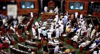 Both Houses of Parliament adjourned following protest by opposition