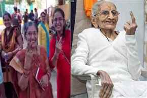PM Modi's wife, mother casts their vote in Gujarat