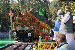 PM flags off 1st ever diesel to electric converted locomotive twin engine at Varanasi