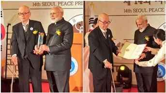 PM Narendra Modi receives Seoul Peace Prize for 2018