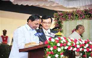 K Chandrasekhar Rao to be sworn in Telangana CM this afternoon