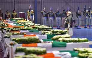 Prime Minister Narendra Modi leads nation in paying tributes to martyrs of Pulwama attack