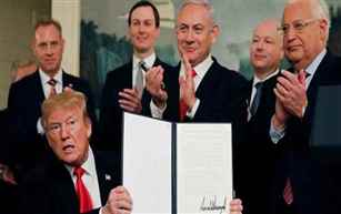Trump sign proclamation recognising Israel's sovereignty over Golan Heights