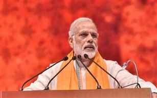 PM Modi accuses Congress of building false narrative around EVMs & demonetisation
