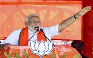 Corruption & politics of caste and religion will stop, if return to power: PM