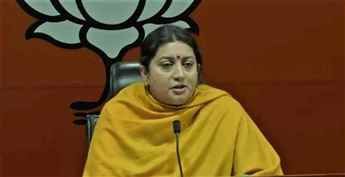 Smriti Irani hits out at Congress for backing those who raise anti-India slogans