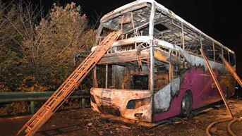 26 killed as tour bus catches fire in China