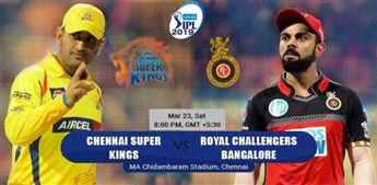 IPL: Chennai to clash with Bangalore in opening match