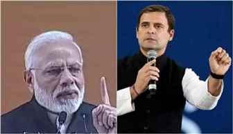 PM Modi targets Cong over dynastic politics; Rahul hits back