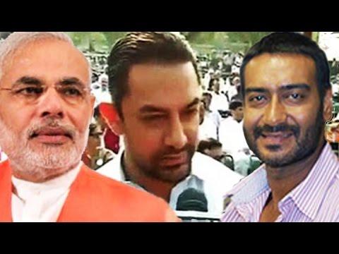 Aamir Khan & Ajay Devgn React On Narendra Modi's Campaign