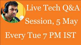 #83 Live Tech Q&A Session with Geekyranjit - 5 May 2015