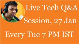 #72 Live Tech Q&A Session with Geekyranjit - 27 Jan 2015