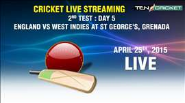 CRICKET LIVE STREAMING: 2nd Test - West Indies v/s England Day 5, St George's, Grenada