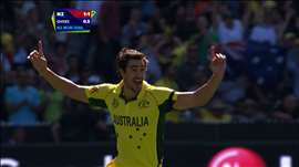 Final, AUS vs NZ: Starc cleans up McCullum early. Watch ICC World Cup Final on starsports.com