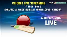 CRICKET LIVE STREAMING: 1st Test - West Indies v/s England Day 5, Antigua