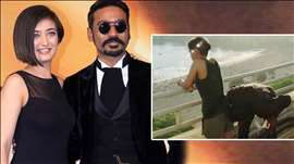 Dhanush KISSES Akshara Hassan's As$ in Shamitabh