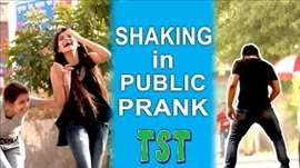 Shaking in Public Prank - Jerking off? - TroubleSeekerTeam