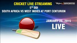 CRICKET LIVE STREAMING: 5th ODI - South Africa v/s West Indies, Centurion
